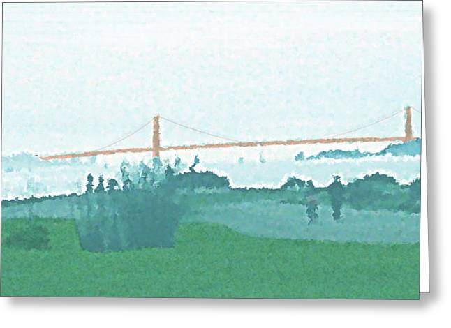 Recently Sold -  - Ocean Vista Greeting Cards - Golden Gate Today Greeting Card by James Raynor
