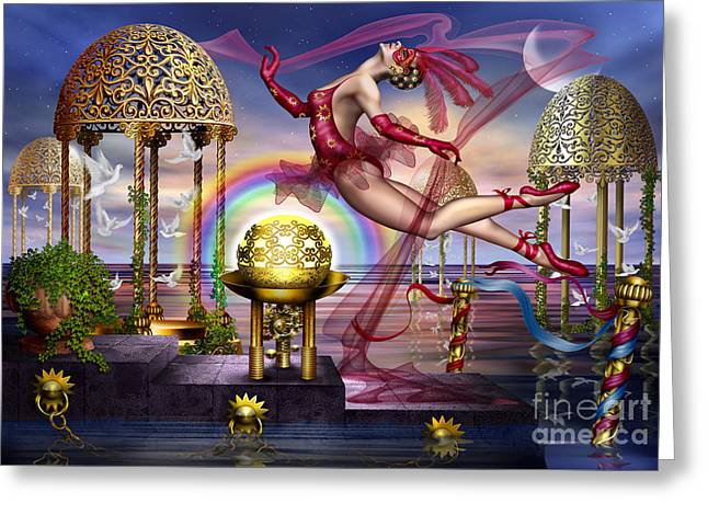 Man Greeting Cards Greeting Cards - Golden Gazebos Greeting Card by Ciro Marchetti