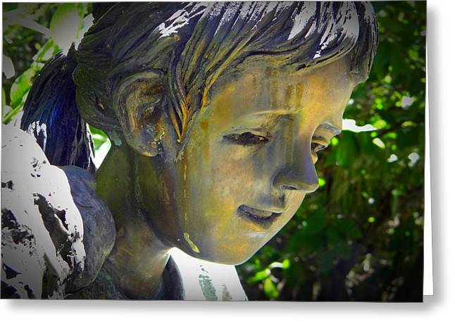 Garden Statuary Greeting Cards - Golden Girl Greeting Card by Frank Wilson