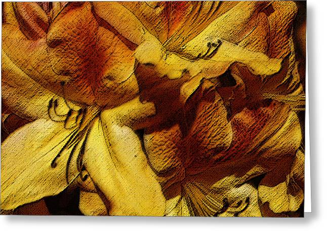 Azalias Greeting Cards - Golden Glory 2 Greeting Card by Angela Rowlands