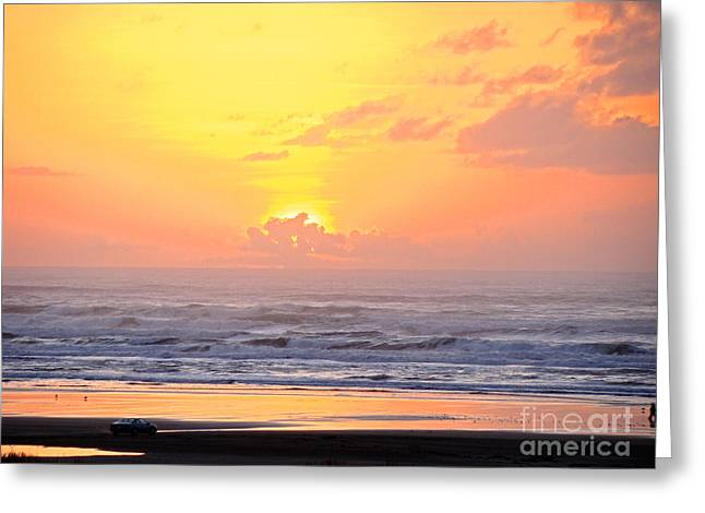 Sunset Framed Prints Greeting Cards - Golden Glory Clouds  Greeting Card by Beverly Guilliams