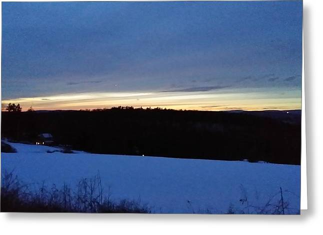 Senic View Greeting Cards - Golden Glow Greeting Card by Bradford j Cole