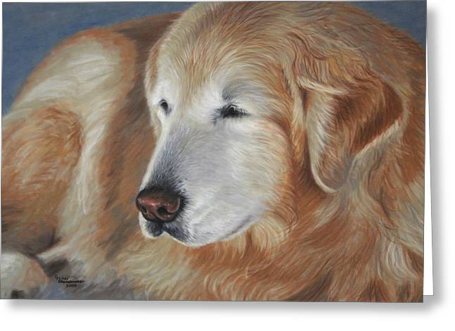 Golden Pastels Greeting Cards - Golden Glow Greeting Card by Debbie Stonebraker