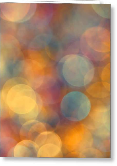 Vivid Colour Greeting Cards - Golden Glow Greeting Card by Jan Bickerton