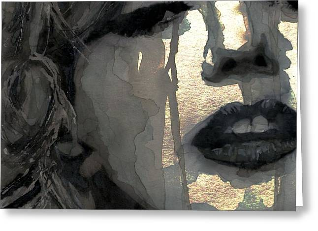 Lips Digital Greeting Cards - Golden Goddess Greeting Card by Paul Lovering
