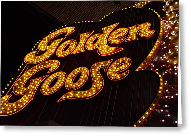 The Tiger Greeting Cards - Golden goose Greeting Card by Michael Anthony
