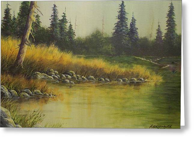 Golden Grass   #038 Greeting Card by Frederick  Skidmore