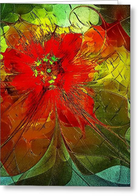 Floral Digital Art Digital Art Greeting Cards - Golden Highlights Greeting Card by Amanda Moore