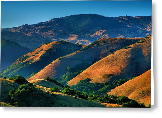 San Luis Obispo Greeting Cards - Golden Hills Greeting Card by Steven Ainsworth