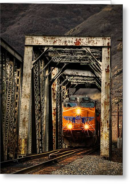 Top Seller Greeting Cards - Golden Hour Crossing Greeting Card by Ken Smith