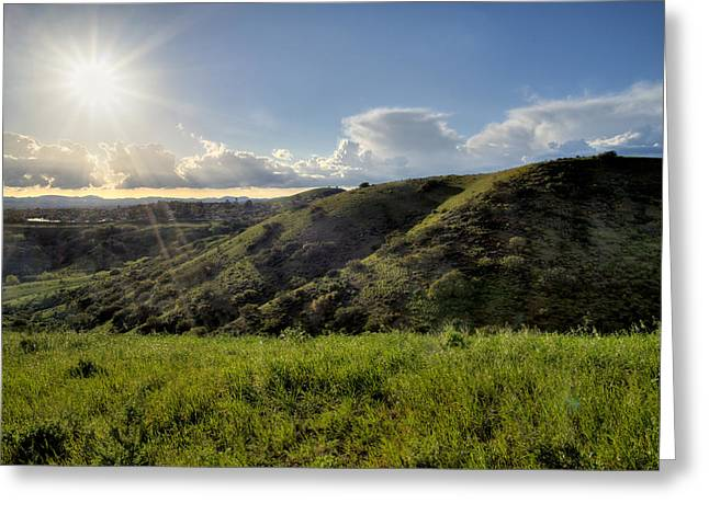 Ventura California Greeting Cards - Golden Hour Star Greeting Card by Lynn Bauer