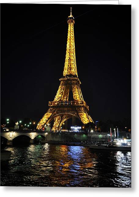 Paris In Lights Greeting Cards - Golden Illumination Greeting Card by Matt MacMillan