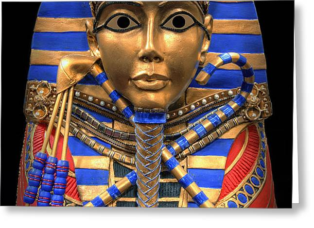 GOLDEN INNER SARCOPHAGUS of a PHARAOH Greeting Card by Daniel Hagerman