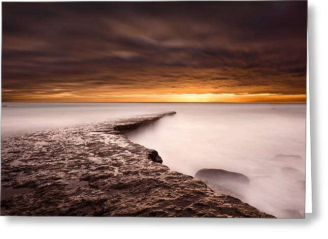 Golden Greeting Card by Jorge Maia