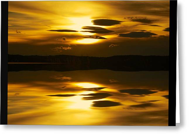 Clouds Posters Greeting Cards - Golden Greeting Card by Kevin Bone