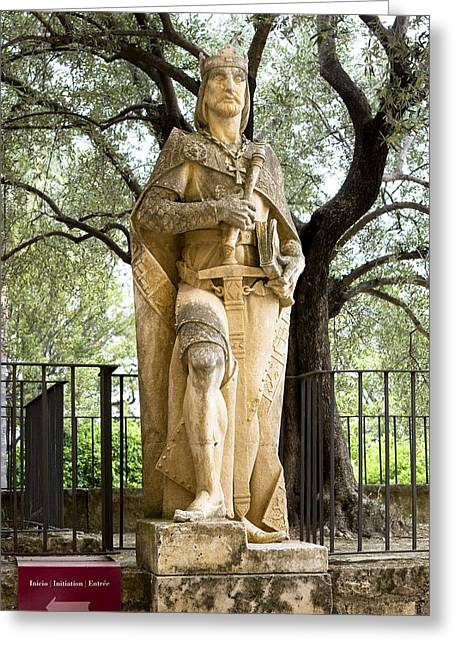 Southern Province Greeting Cards - Golden Knight at Sculpture Park Greeting Card by Lorraine Devon Wilke
