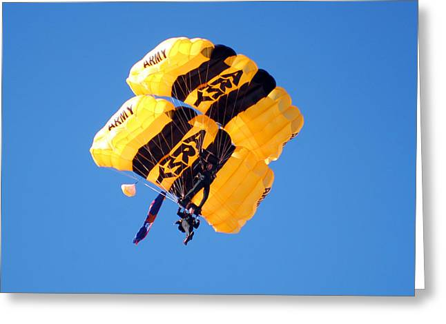 Marine Greeting Cards - Golden Knights Greeting Card by Annette Redman