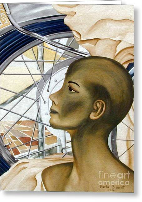 Bryant Paintings Greeting Cards - Golden Lady Greeting Card by Carla Jo Bryant
