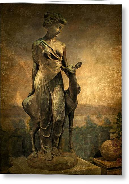 Patina Digital Art Greeting Cards - Golden Lady Greeting Card by Jessica Jenney