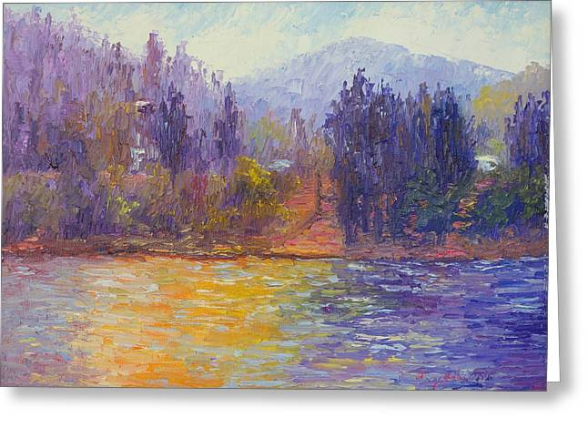 Terry Chacon Greeting Cards - Golden Lake Gregory Greeting Card by Terry  Chacon
