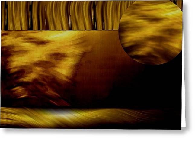 Recently Sold -  - Sanddunes Greeting Cards - Golden Landscape Greeting Card by Pepita Selles