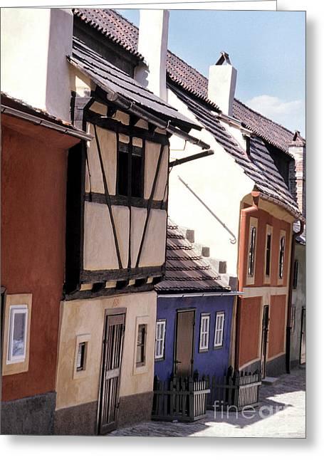 Franz Kafka Greeting Cards - Golden Lane Prague Greeting Card by Ros Drinkwater