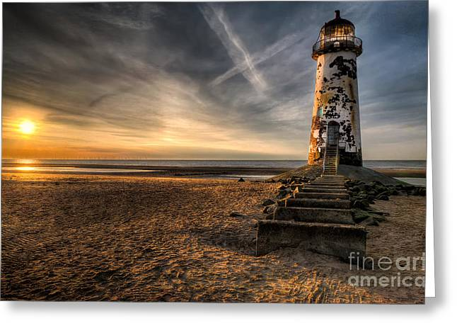 Golden Light Greeting Card by Adrian Evans