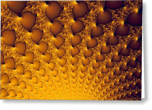 Golden Light Explosion Digital Artwork Greeting Card by Matthias Hauser