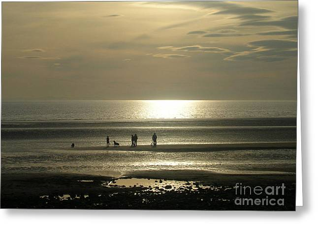 Golden Light On Walney Beach Greeting Card by Avis  Noelle