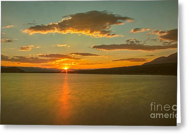 Salmon River Idaho Greeting Cards - Golden Mackay Reservoir Greeting Card by Robert Bales