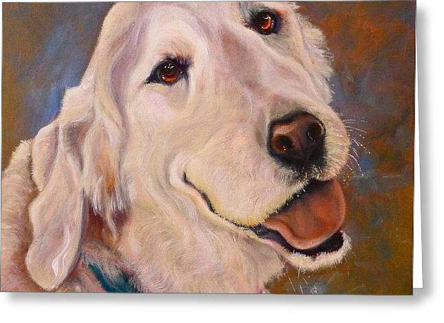 Puppies Drawings Greeting Cards - Golden Meditation Greeting Card by Susan A Becker