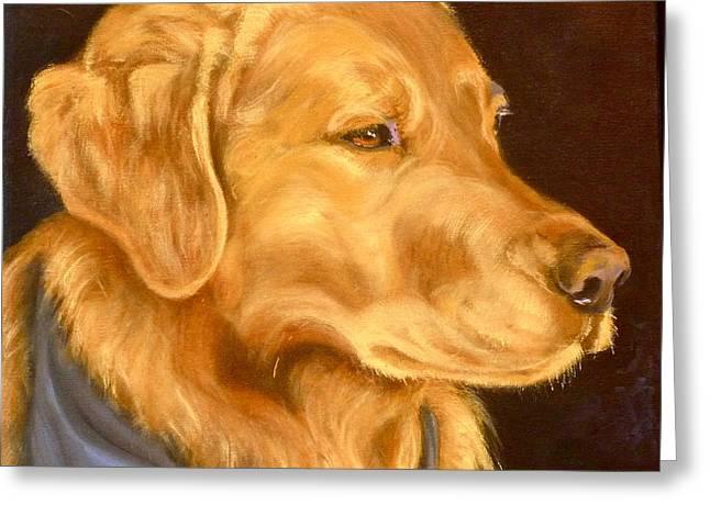 Kerchief Greeting Cards - Golden Memories Greeting Card by Susan A Becker