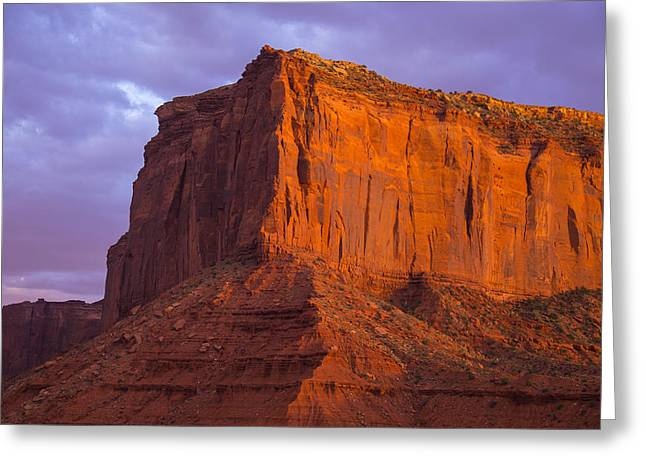 Navajo Tribal Park Greeting Cards - Golden Mesa Monument Valley Greeting Card by Garry Gay