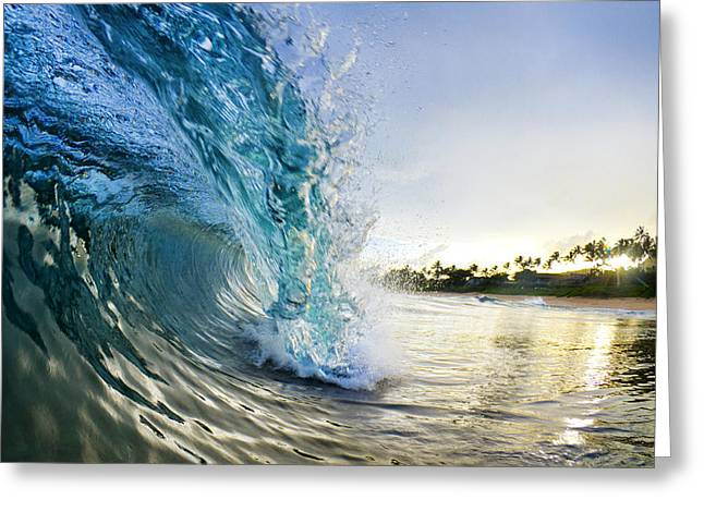 Ocean Art Photography Greeting Cards - Golden Mile Greeting Card by Sean Davey