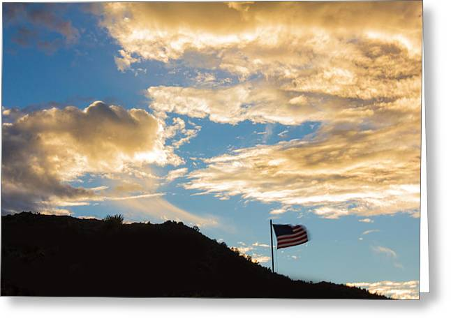 American Conservative Party Greeting Cards - Golden Moment For Our Flag Greeting Card by Carolina Liechtenstein