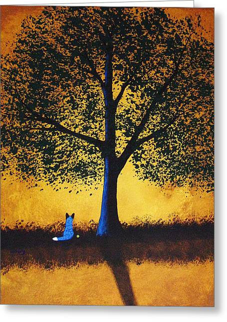 Blue Heeler Greeting Cards - Golden Moments Greeting Card by Todd Young