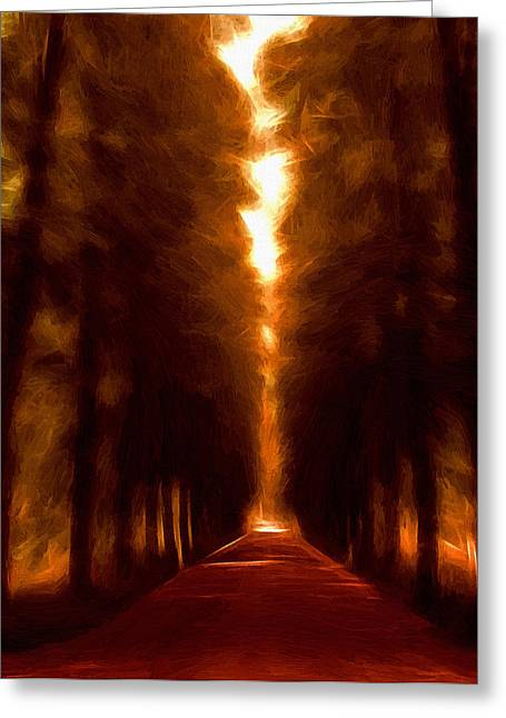 Stefan Kuhn Greeting Cards - Golden October Greeting Card by Stefan Kuhn