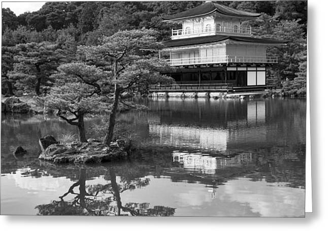 Golden Pagoda in Kyoto Japan Greeting Card by David Smith