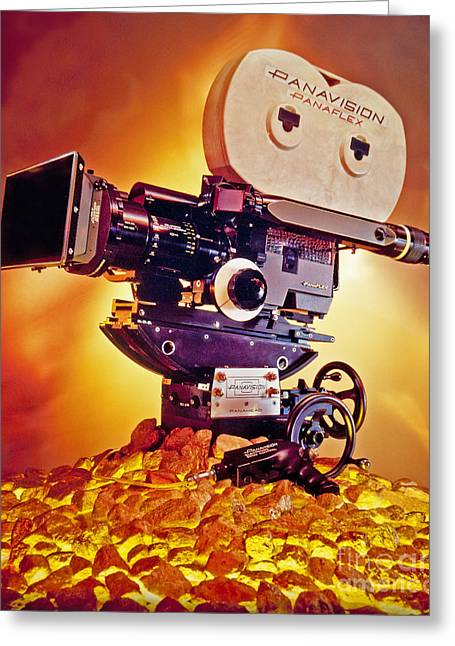 Motion Picture Photographs Greeting Cards - Golden Panaflex Greeting Card by Frank Bez