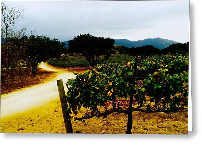 Enlightened Path Greeting Cards - Golden Path Greeting Card by Jeasun Feralio