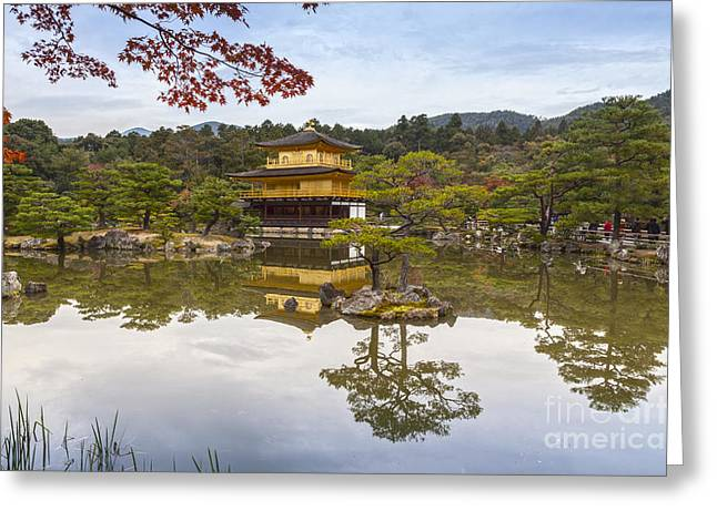 Kyoto Greeting Cards - Golden Pavilion Kyoto Japan Greeting Card by Colin and Linda McKie
