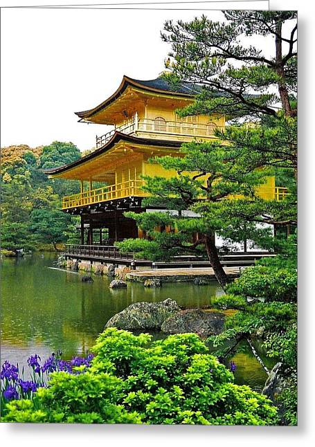 Seen Greeting Cards - Golden Pavilion - Kyoto Greeting Card by Juergen Weiss