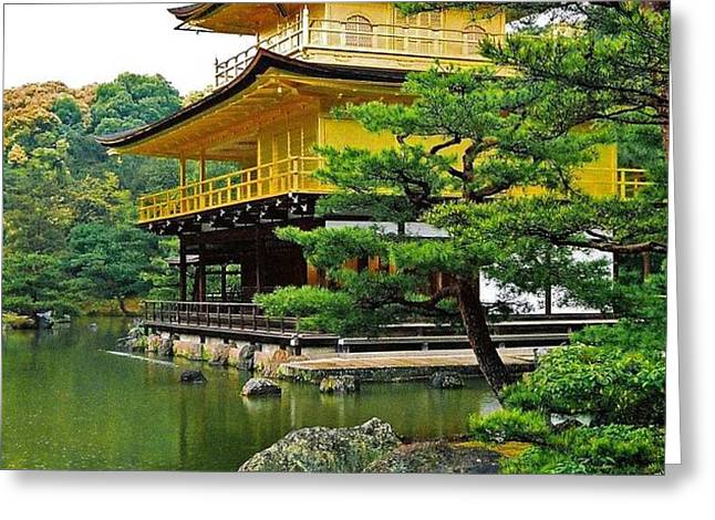 Golden Pavilion - Kyoto Greeting Card by Juergen Weiss