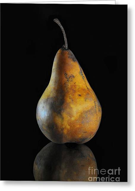 Pears Photographs Greeting Cards - Golden Pear Greeting Card by Dan Holm