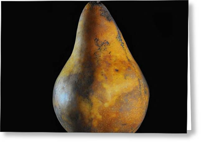 Golden Pear Greeting Card by Dan Holm