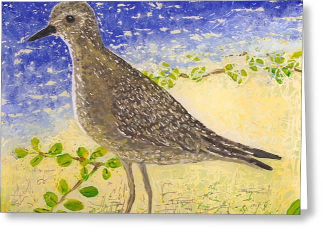 Golden Plover Greeting Card by Anna Skaradzinska