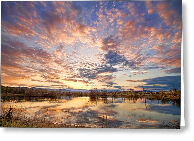 Golden Ponds Scenic Sunset Reflections 4 Greeting Card by James BO  Insogna
