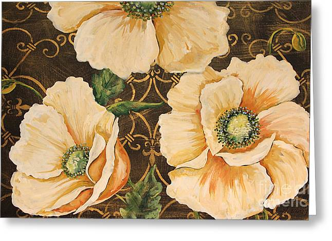 Floral Digital Art Digital Art Greeting Cards - Golden Poppies Greeting Card by Jean Plout