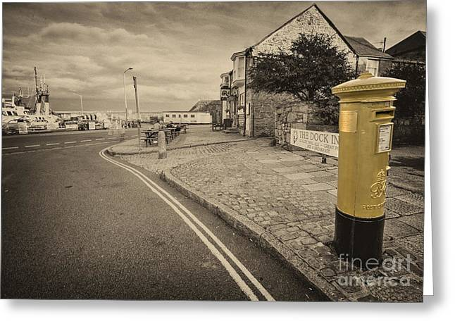 Postal Greeting Cards - Golden Post  Greeting Card by Rob Hawkins
