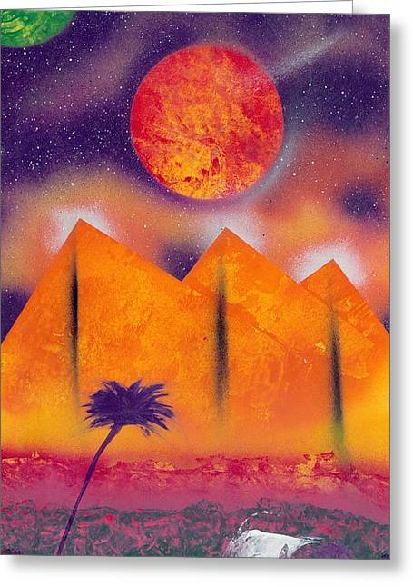 Marc Chambers Greeting Cards - Golden pyramid sunrise Greeting Card by Marc Chambers